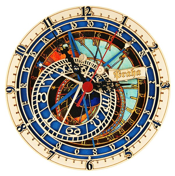 Prague Astronomical Wooden Clock