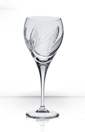 Bohemia Crystal Wine Glass Orchidea